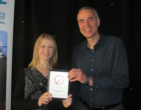 Linkliving's Sarah Smith and George Thomson CEO